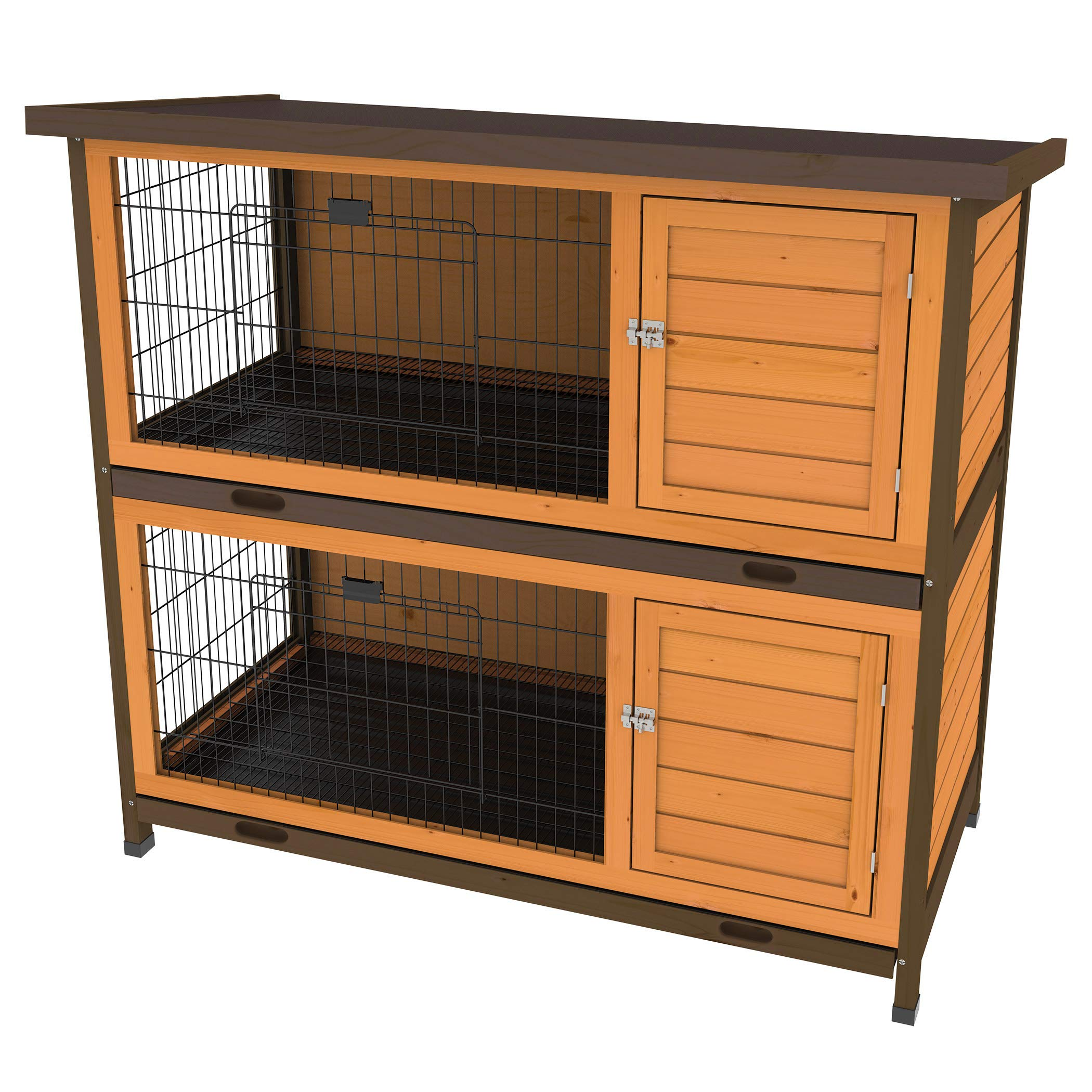 Ware Manufacturing Premium Plus Double Decker Hutch for Rabbits and Small Pets by Ware Manufacturing
