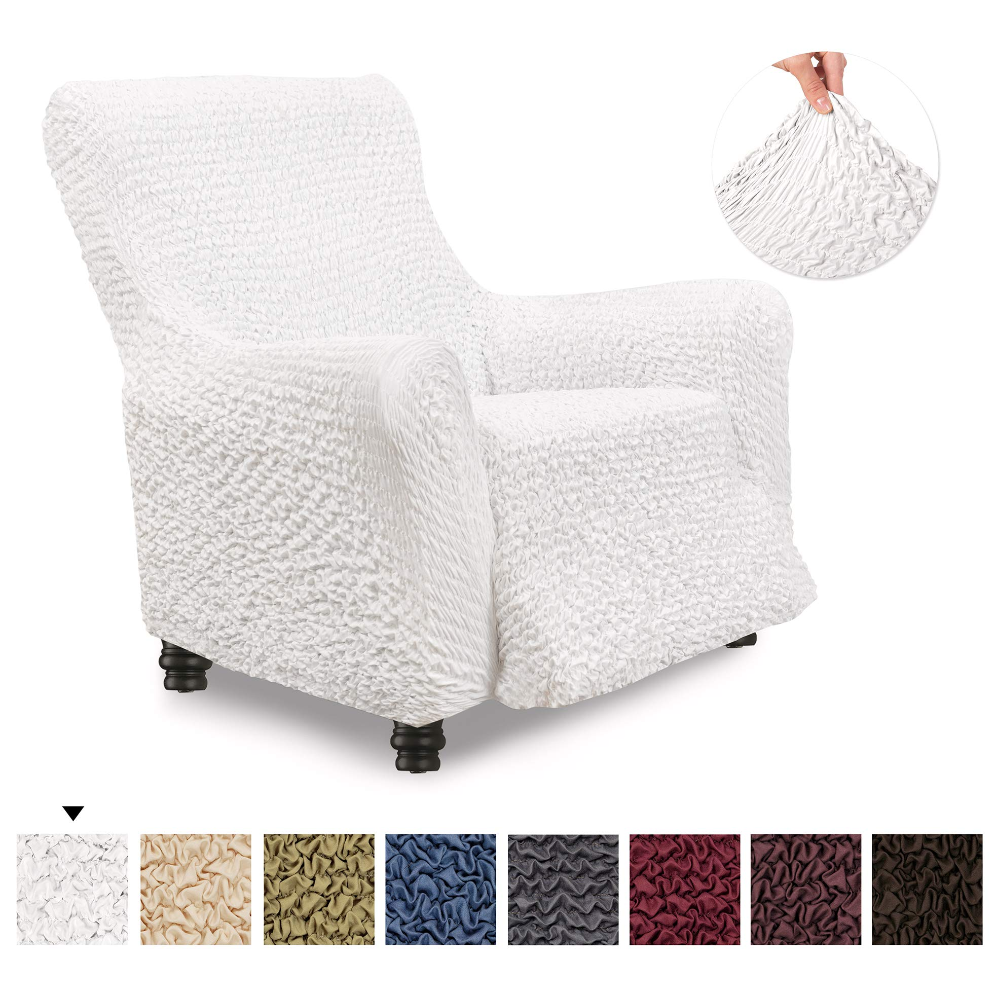 Recliner Cover - Recliner Chair Cover - Recliner Slipcover - Soft Polyester  Fabric Slipcover - 1 d17603a0c2