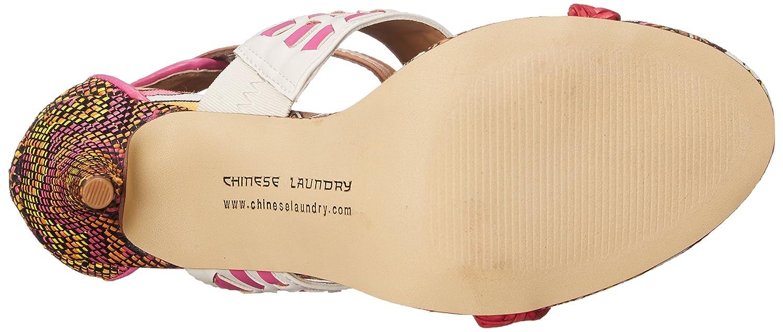 Chinese Laundry Women's Lila Dress Sandal B011XZMUXA 10 B(M) US|Orange Multi Weave