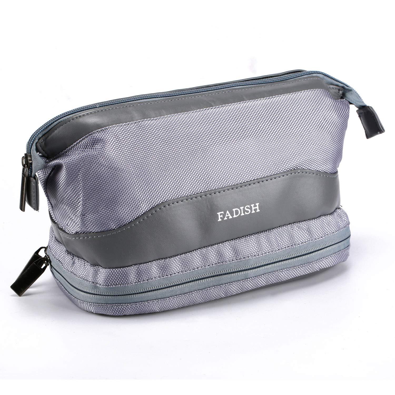 d019a58d99 Amazon.com   NaKita Toiletry Bag for Men Travel Mekeup Bag Organizer  Portable Double Layer Shaving Dopp Kit with Brush Holder and Waterproof  Towel Bag for ...