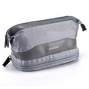 Amazon.com   Toiletry Bag for Men - Travel Organizer Cosmetic Makeup Bag  Waterproof Shaving Kit for Men Portable Handbag Wash Bag Dopp Kit (Gray)    Beauty 8c7b082af7