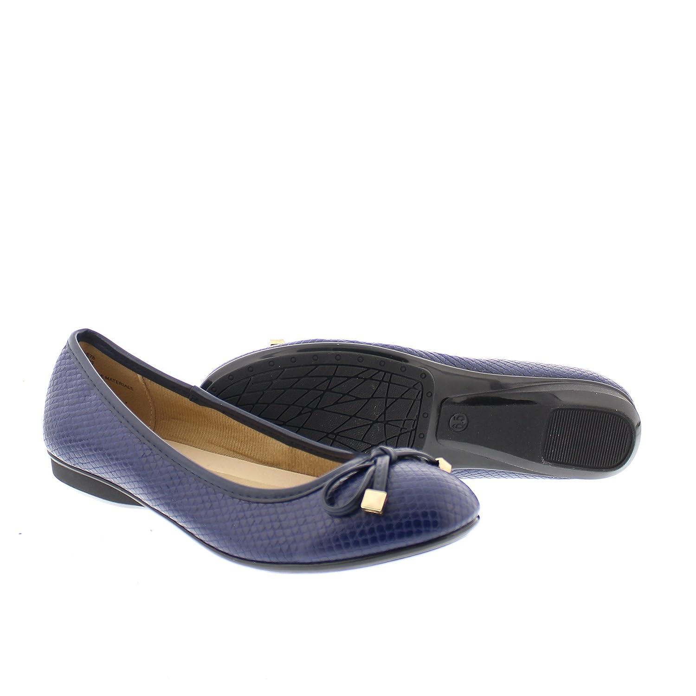 Gold Memory Toe Malorie Womens Comfortable Memory Gold Foam Ballet Flat Shoe,Work Comfort Dress Flats Low Wedge Pump for Women B06VTSRJD9 7.5 B(M) US|Navy f0d892