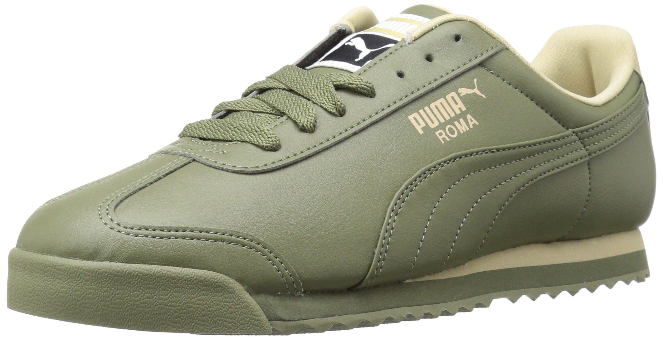 Galleon - PUMA Men s Roma Basic Sneaker Burnt Olive-Pale Khaki 12 M US d00019db3