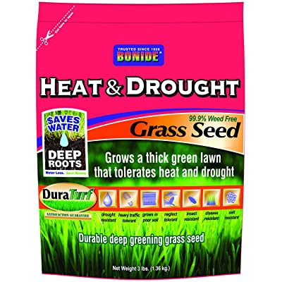 Bonide 60251 Heat and Drought Grass Seed, 3-Pound : Grass Plants : Garden & Outdoor