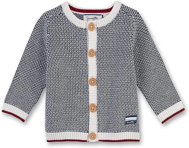 Sanetta Baby-Jungen Fiftseven Deep Blue Feines dunkelblaues Sweatshirt zauberhaften Teddyb/ären-Artwork Fiftyseven