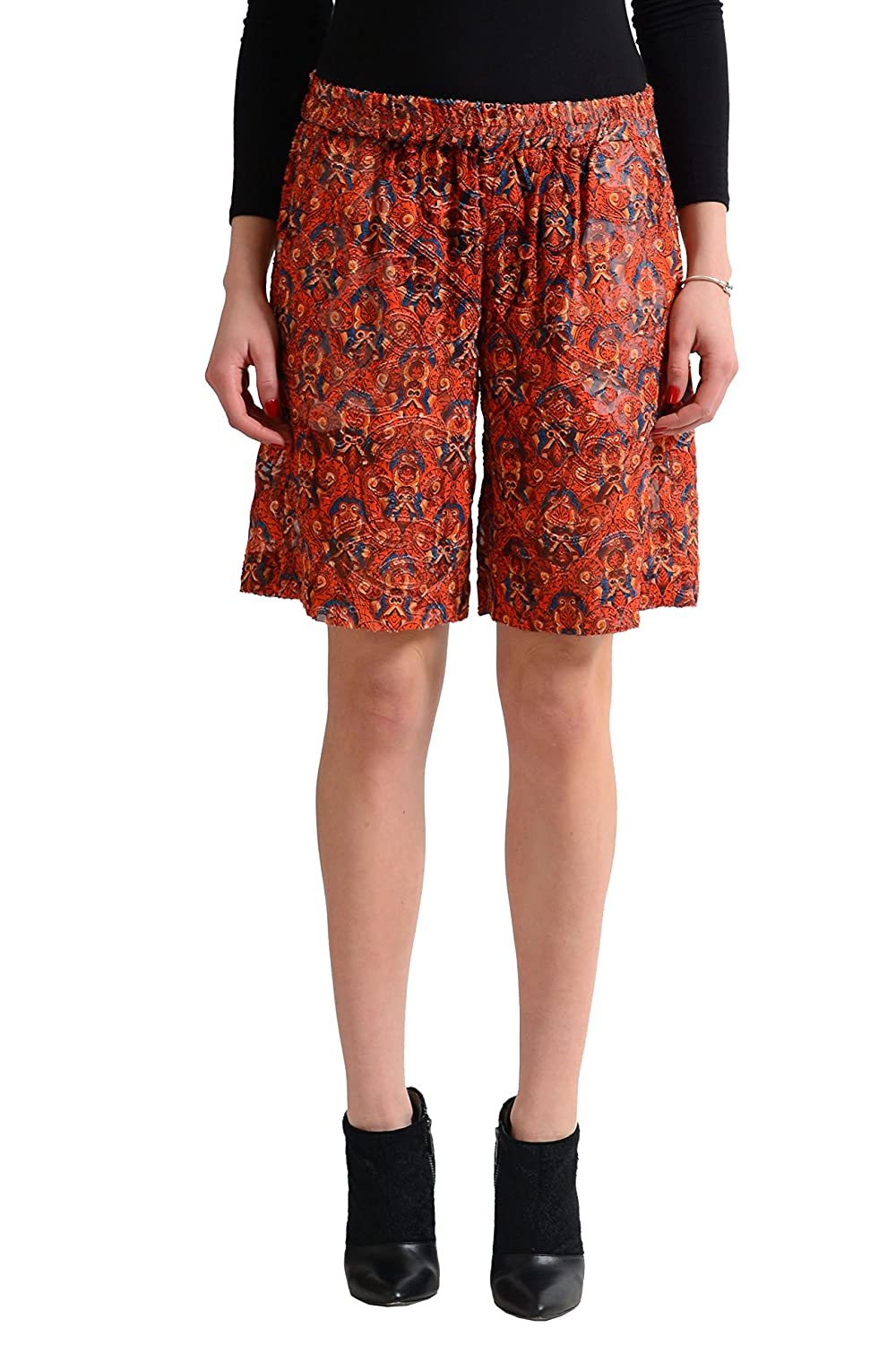 Just Cavalli Women's Multi-Color Silk See Through Shorts US S IT 40