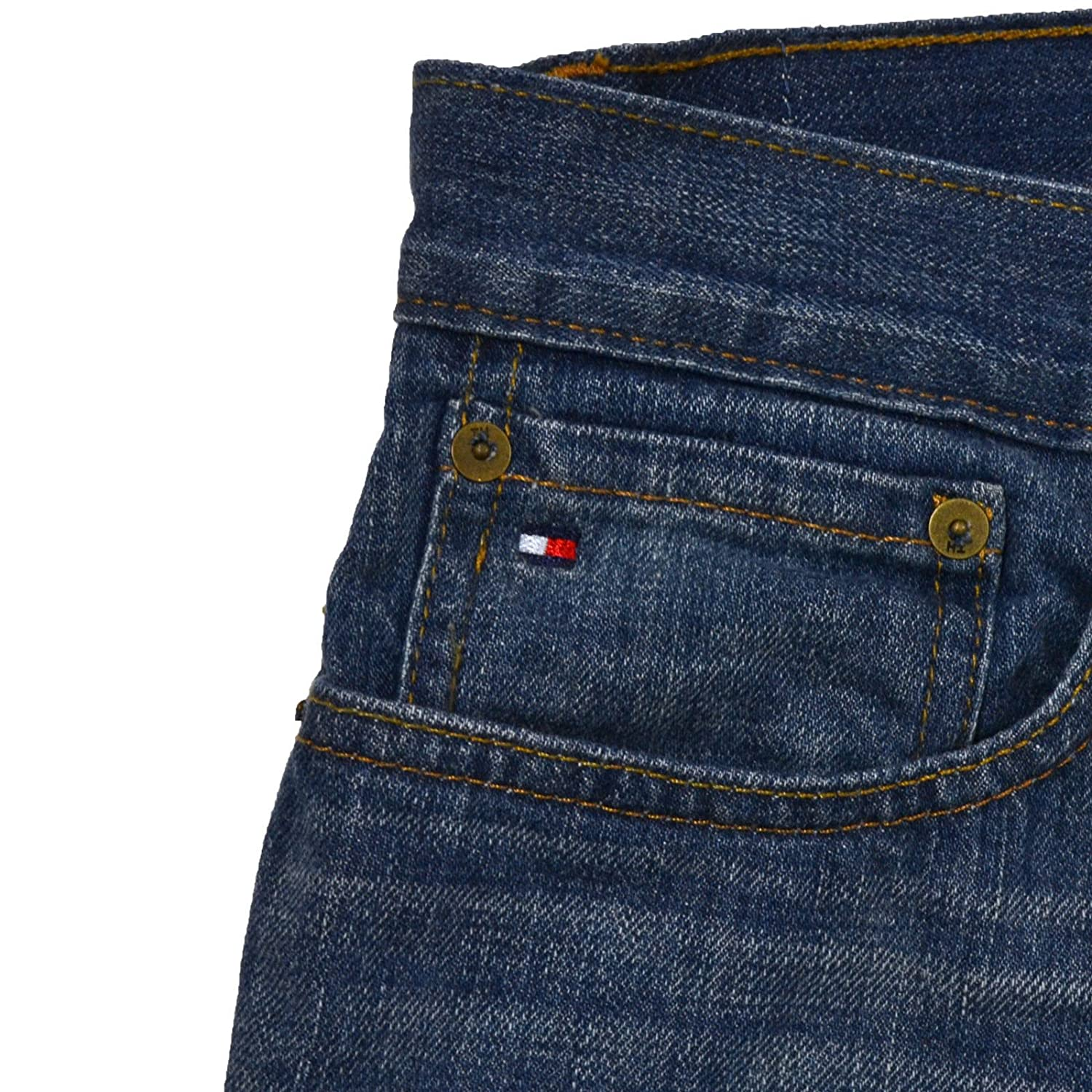 Tommy Hilfiger Mens Straight Fit Jeans