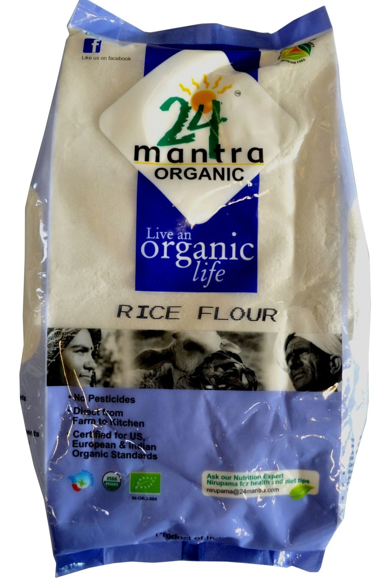 24 Mantra Organic Rice Flour 4 lb by 24 MANTRA