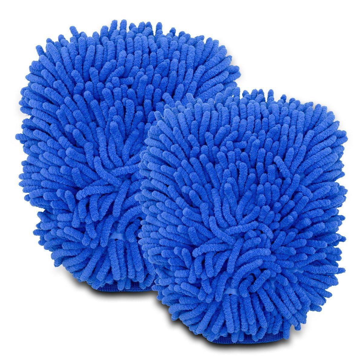 Car Wash Handschuh, Maso 9.5'x6.7' Premium Chenille Microfiber Wash Mitt - Wash Glove for Car/SUV/Truck Pack of 2 Maso 9.5x6.7 Premium Chenille Microfiber Wash Mitt - Wash Glove for Car/SUV/Truck Pack of 2