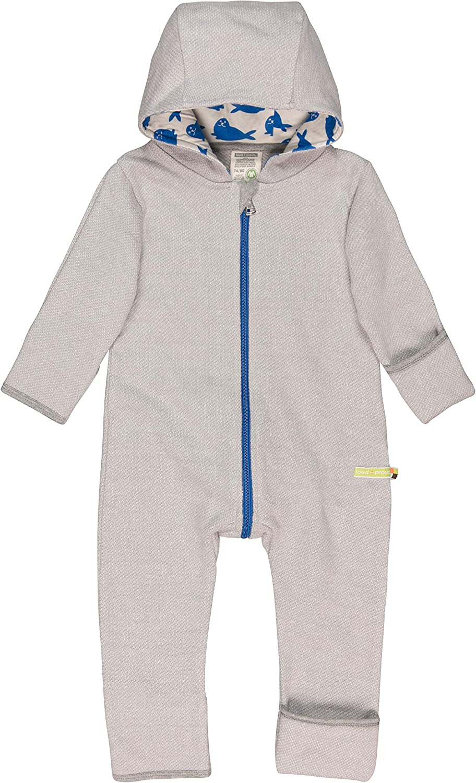 loud proud Unisex Baby Overall in Melange Strick aus Bio Baumwolle GOTS Zertifiziert Strampler