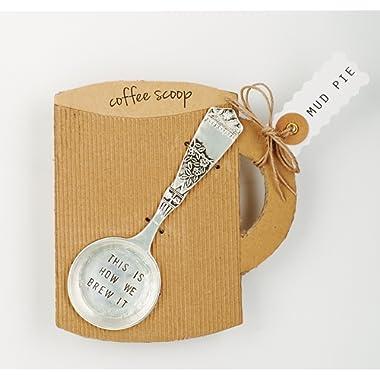 Mud Pie Brew it Coffee Scoop, Silver