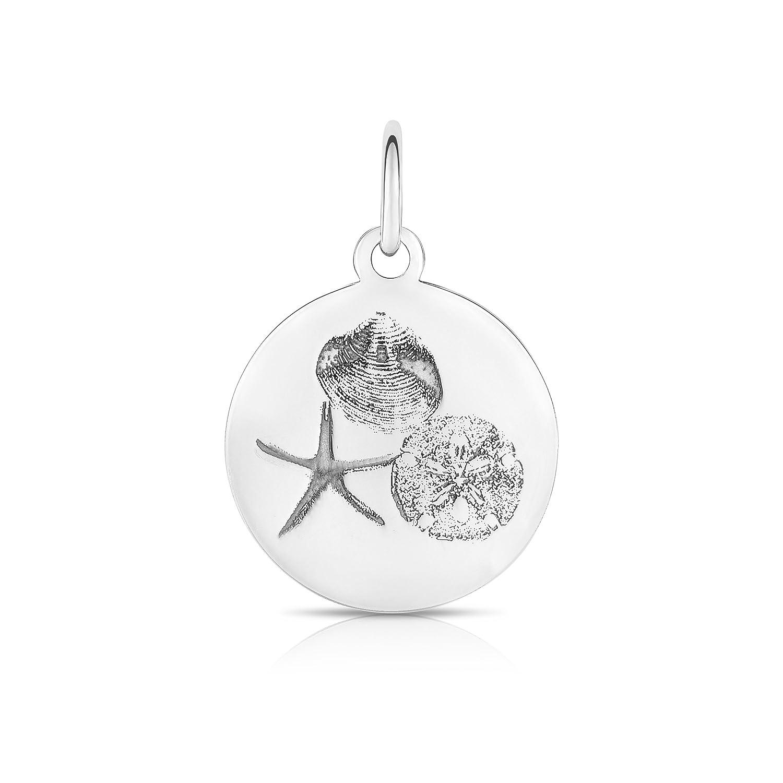 Sterling Silver Cape Cod Necklace And Sea Shells Pendant.