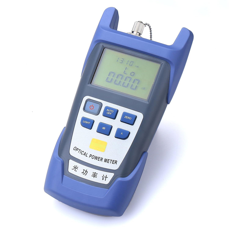 Fibra óptica medidor de potencia con 30 mW localizador Visual de fallos de aluminio 30 km FC-LC adaptador de fibra óptica Cable Tester Checker Prueba ...