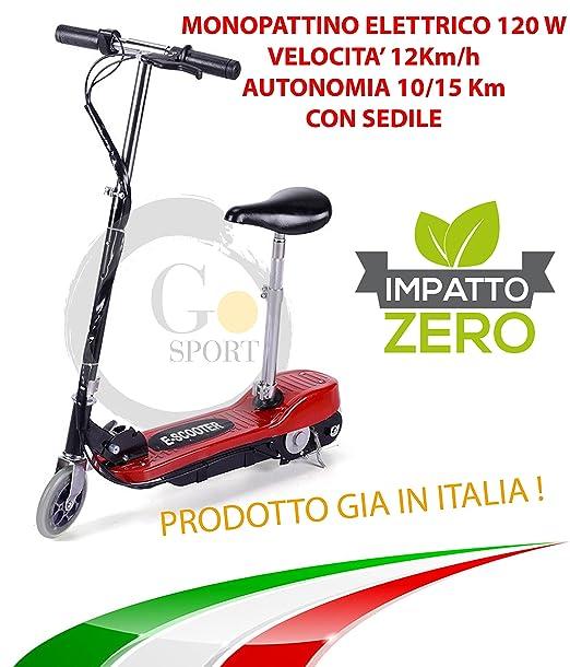 Go-Sport – Patinete eléctrico, 24V/120W, con sillín: Amazon ...