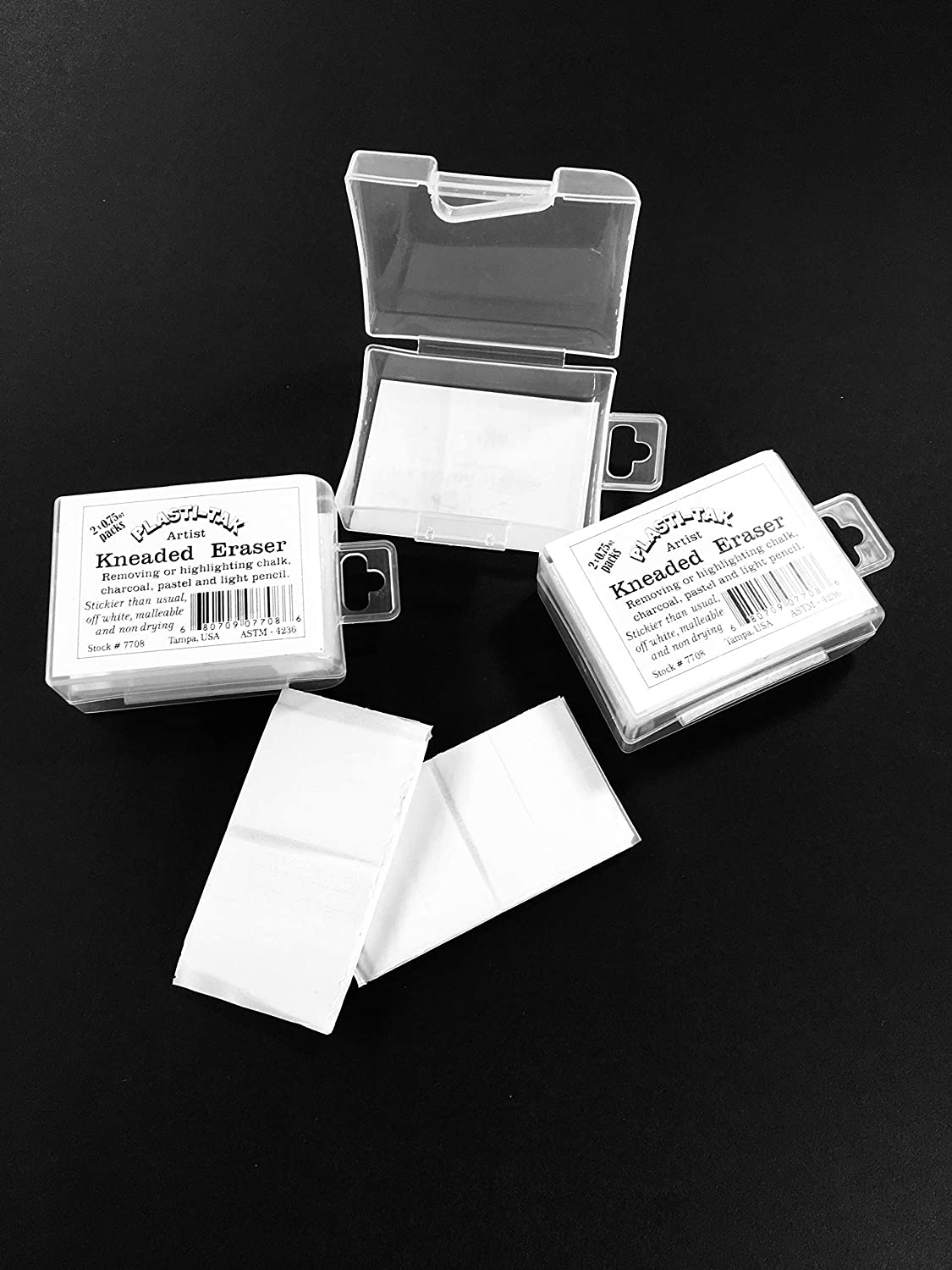 2 x 0.75 oz per Box Blend 3 pk Kneaded Eraser Smooth Shade Correct and Brighten Your Sketches and Drawings
