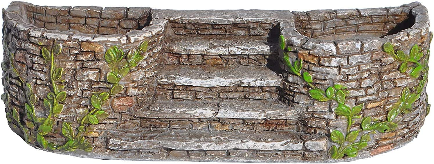 Miniature Fairy Garden Ivy Planters with Staircase