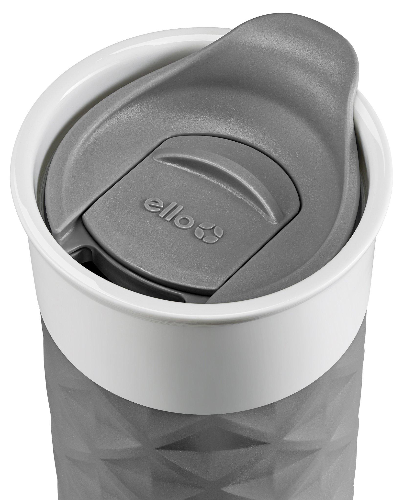 Ello Ogden BPA-Free Ceramic Travel Mug with Lid, Grey, 16 oz by Ello (Image #2)