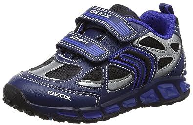 Geox Shuttle A, Sneakers Basses Garçon, Gris (Grey/Orange), 31 EU