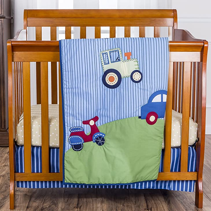 Dream On Me Reversible Portable Crib Set