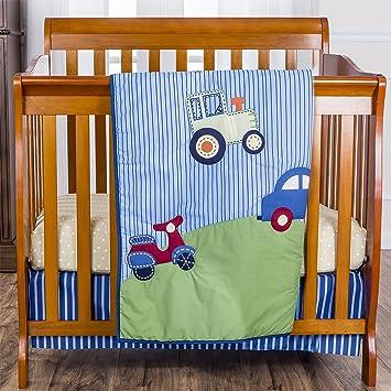 Spring Time Dream On Me 3 Piece Set Reversible Portable Crib Bedding Set