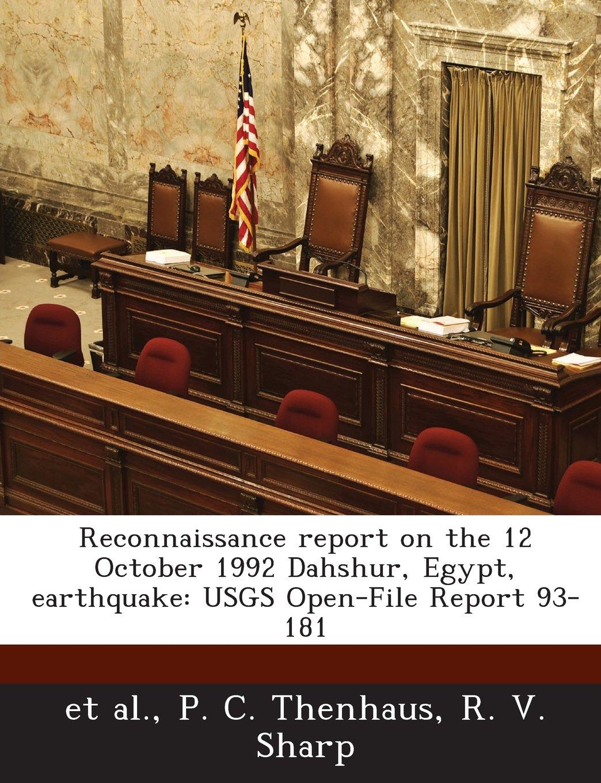 Reconnaissance report on the 12 October 1992 Dahshur, Egypt, earthquake: USGS Open-File Report 93-181 pdf
