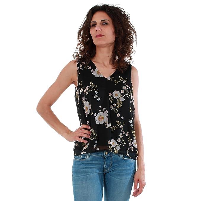 Vero Moda Camiseta Mujer S Negro 10198943 VMKAY SL Top Black/Emili Pri