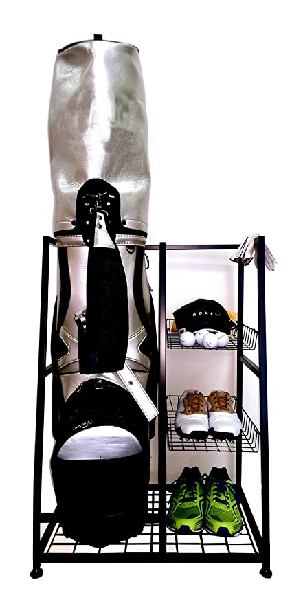 Single Golf BAG Organizer  Golf Bag And Equipment Organizer  Rack/shelves   Keep
