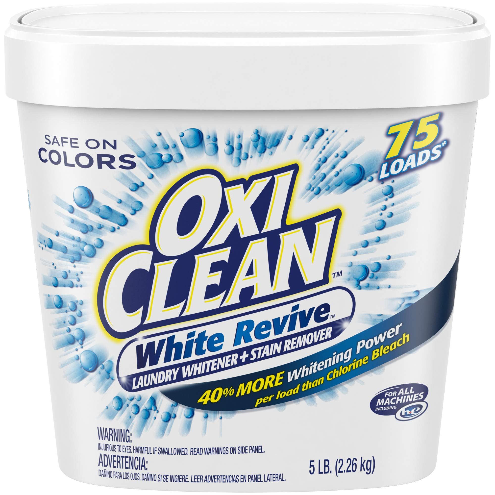 OxiClean White Revive Laundry Whitener + Stain Remover, 80 Ounce