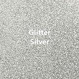 """Siser Glitter Heat Transfer Vinyl 20"""" x 12"""" Sheet (Silver)"""