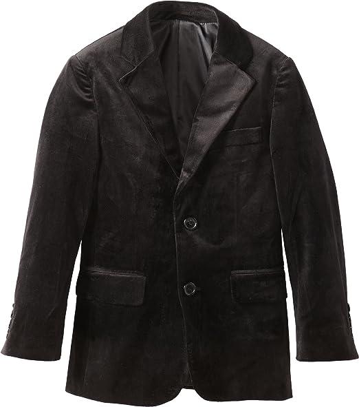 Isaac Mizrahi Big Boys Single-Breasted Velvet Blazer Jacket