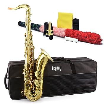 Legado TS750 estudiante/Intermedio para saxofón tenor con funda, accesorios