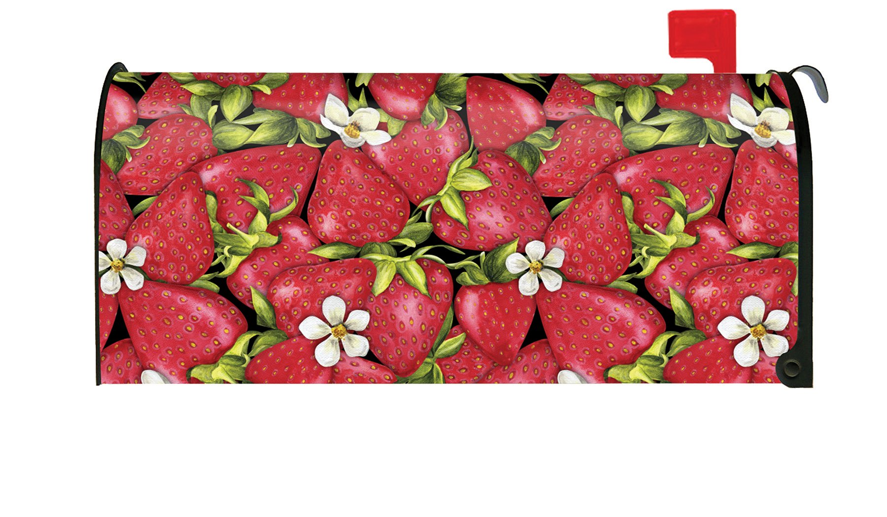 Toland Home Garden Strawberry Collage Colorful Red Summer Fruit Magnetic Mailbox Cover
