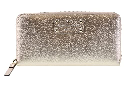 3b20acb1bfd Image Unavailable. Image not available for. Color  Kate Spade Wellesley  Neda Zip Around Wallet (Rose Gold)