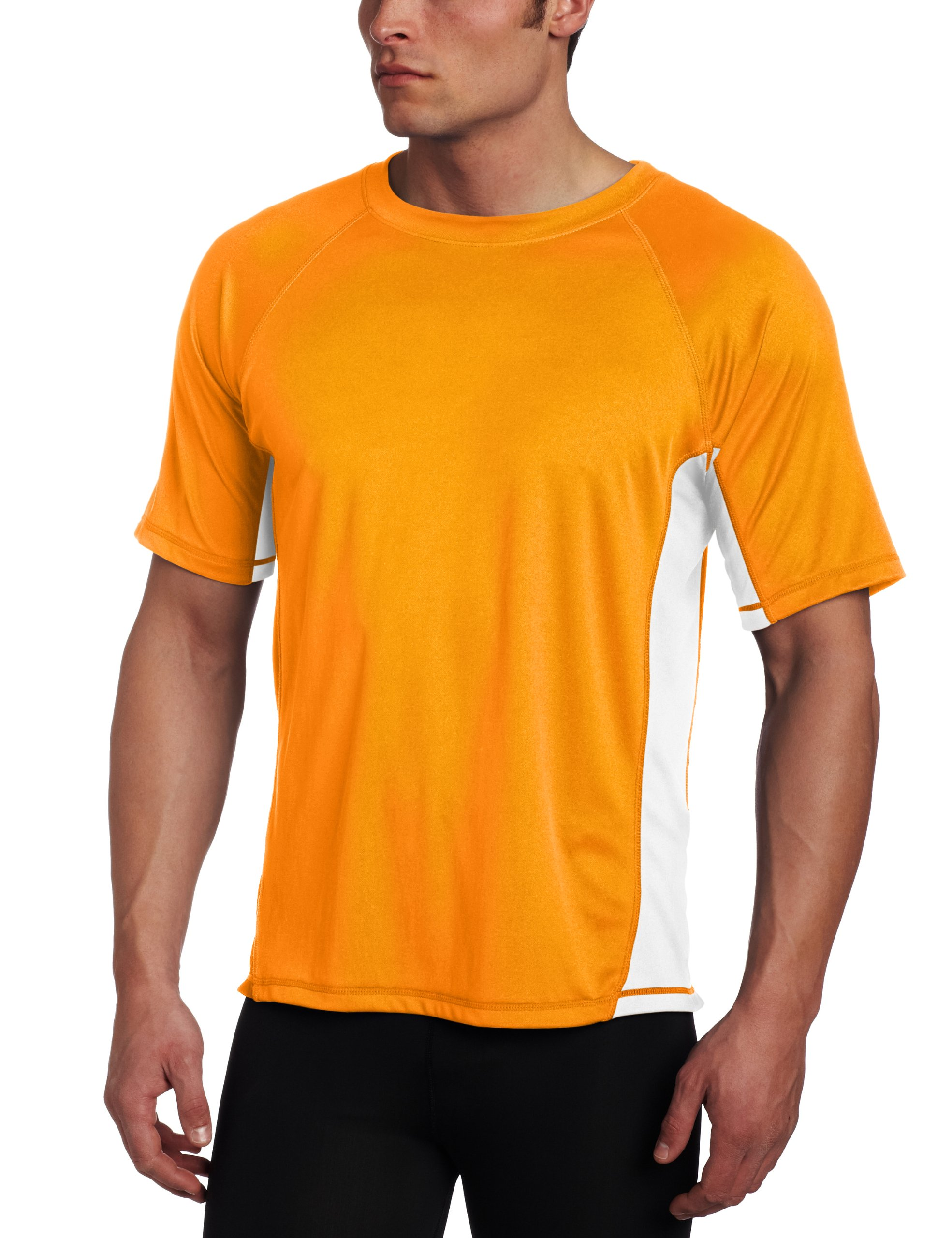 Kanu Surf Men's CB Rashguard UPF 50+ Swim Shirt, Orange, 2X-Large
