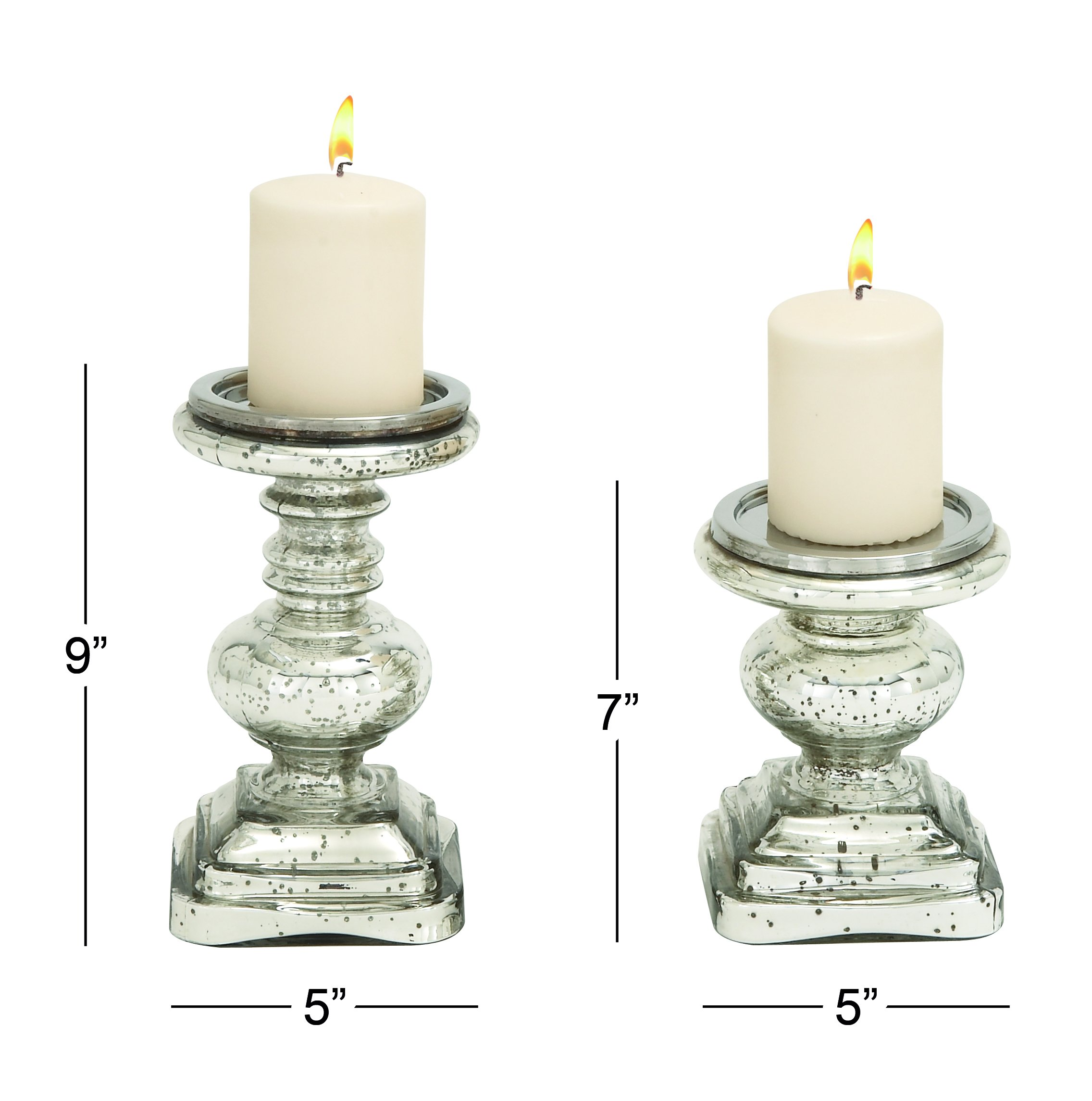Deco 79 28883 Glass Candleholder Set of 2 by Deco 79 (Image #2)