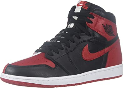 Nike Mens Air Jordan 1 Retro High OG NRG HTH Black/University Red-White  Leather