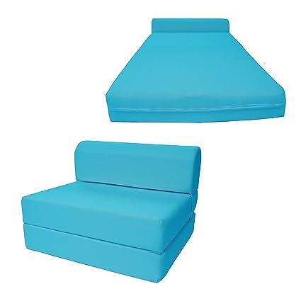 Amazoncom Dd Futon Furniture Turquoise Sleeper Chair Folding Foam