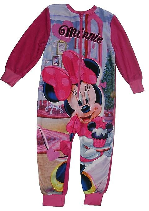 rivenditore di vendita 256bb eba87 Disney Minnie Mouse Pigiama Intero Manica Lunga in Pile-Bambine e ragazze
