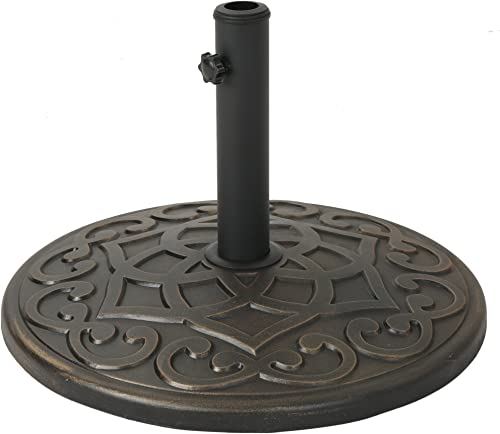 Christopher Knight Home Estelle Outdoor Concrete Circular Umbrella Base 57LBS in Hammered Dark Copper