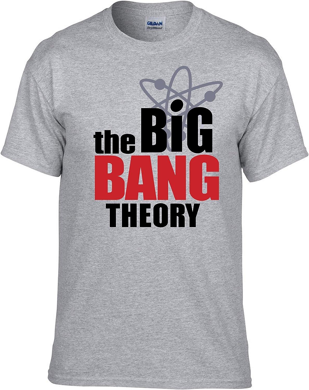 T-Shirt Maglietta 100/% Cotone 056 -Grigio Big Bang Theory Sheldon Bazinga