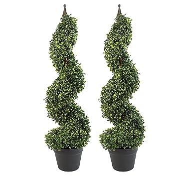 Amazon.de: Leaf Paar 90 cm (Einzelbett) Hoch Künstliche Buchsbaum ...