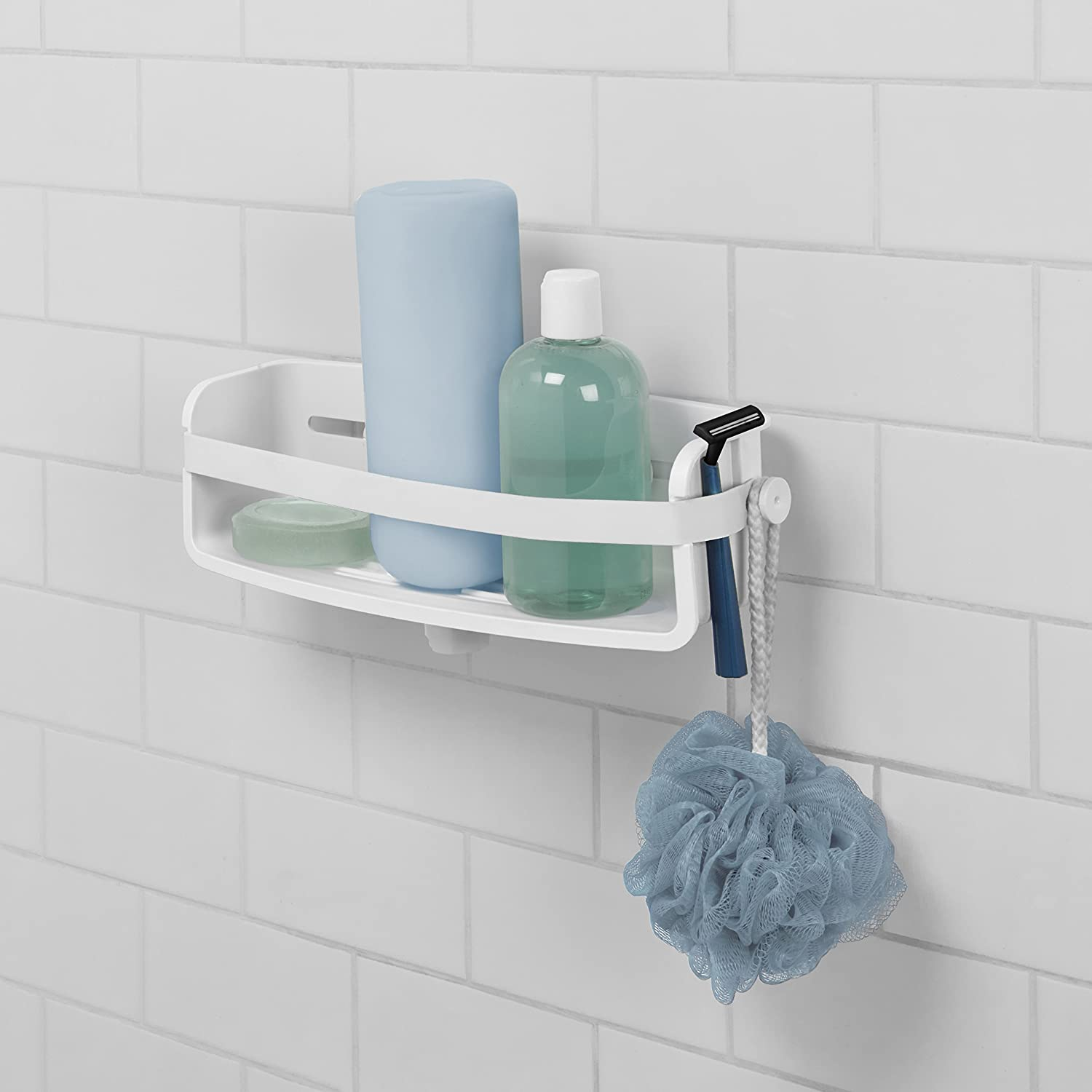 Amazon.com: Umbra Flex Shower Caddy, Suction Hook, Soap Caddy with ...