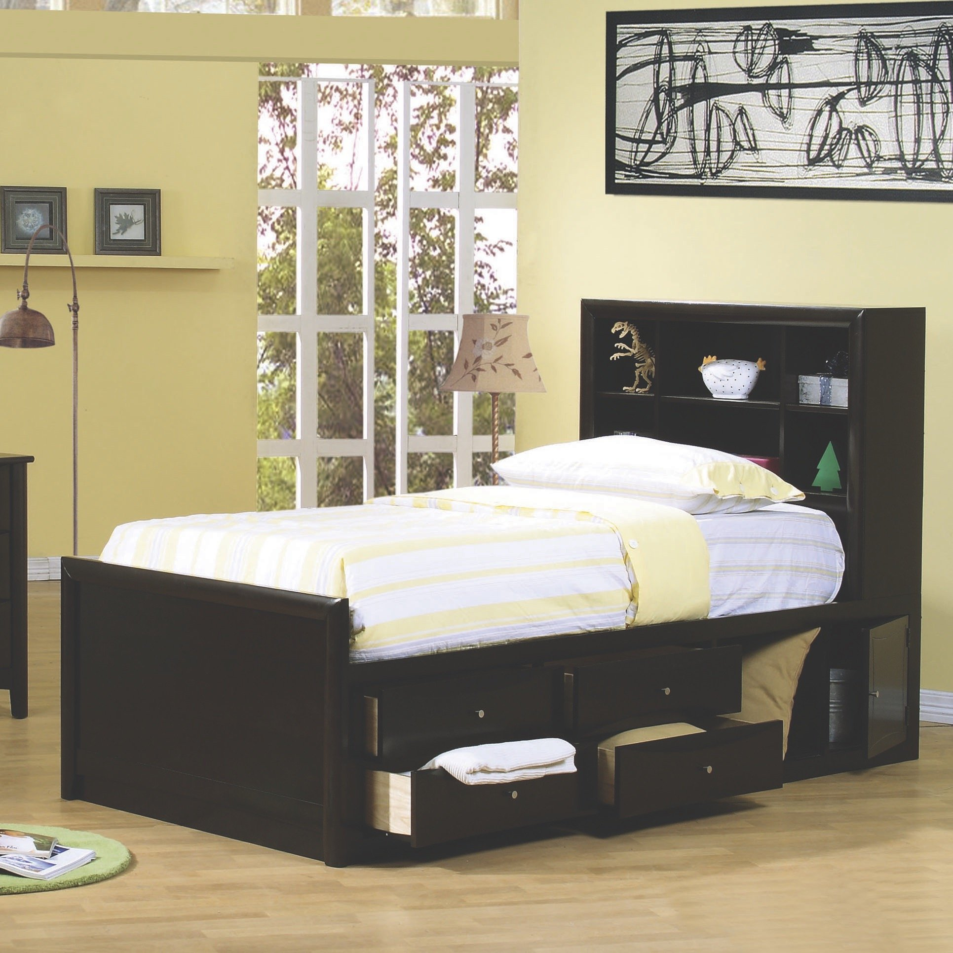 Coaster Home Furnishings 400180T Transitional Bed, Twin, Cappuccino