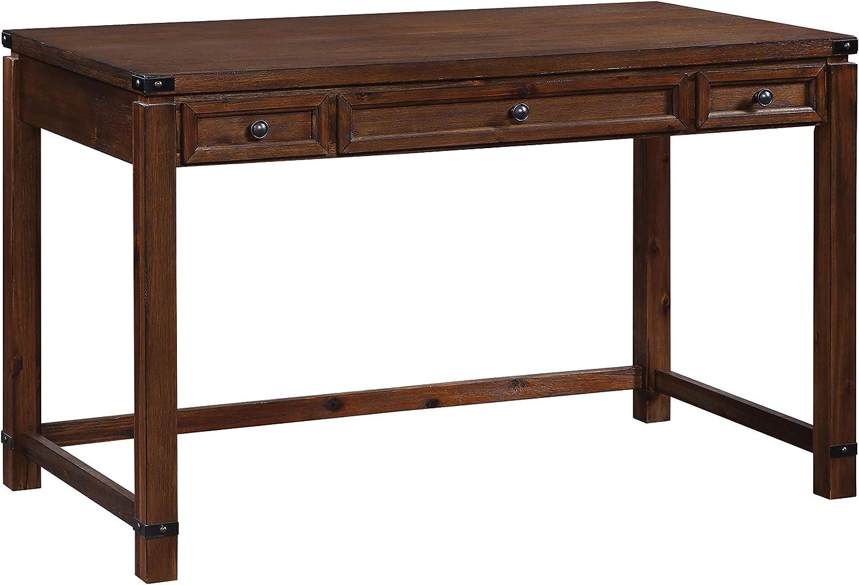OSP Home Furnishings Baton Rouge Writing Desk, Walnut