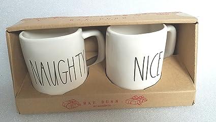 Amazon Com Rae Dunn By Magenta Naughty Nice Mug Cup Christmas Set