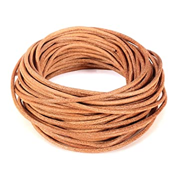 1 meter Indian Leather Natural 5mm choose your colour