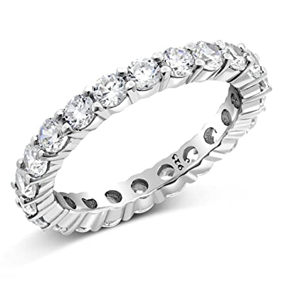 kellinsilver bands cz band from eternity heart white com ring gold