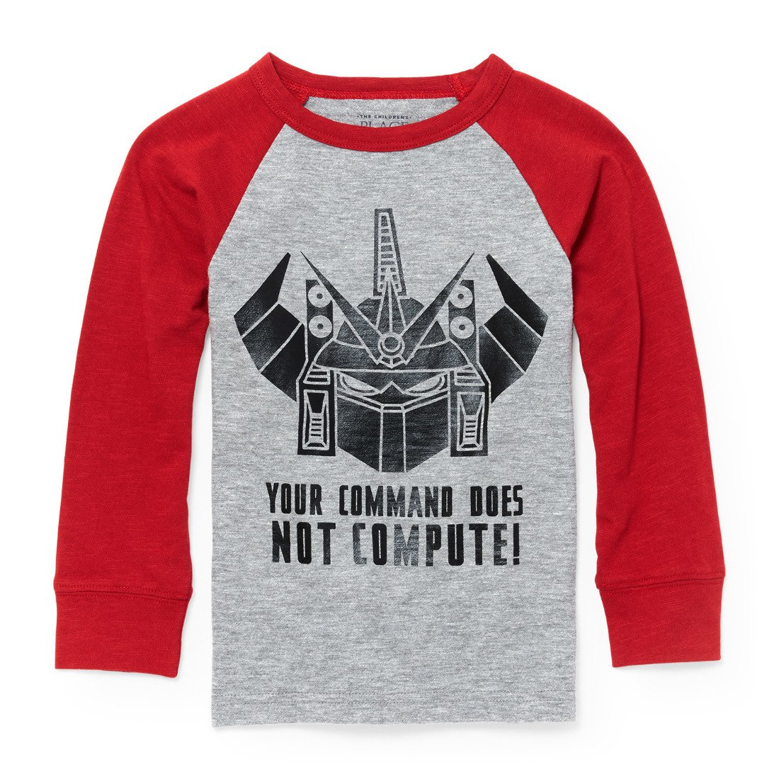 The Children's Place Baby Boys' December Raglan Graphic Long Sleeve Knit Top The Children' s Place Children' s Apparel