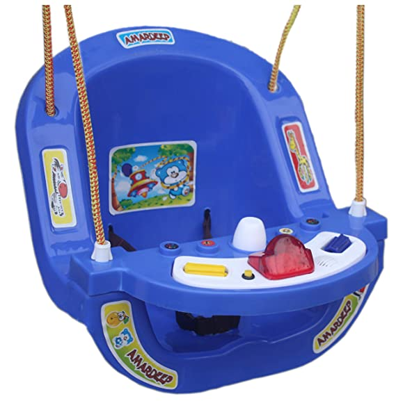 KooKyKooby Baby Toy Swing Musical with Child Safety Locks (Blue)