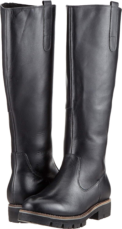 New Womens Caprice Black 26610 Leather Boots Heels Zip